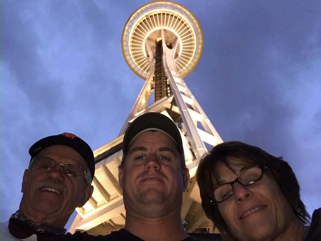 looking up at Space Needle