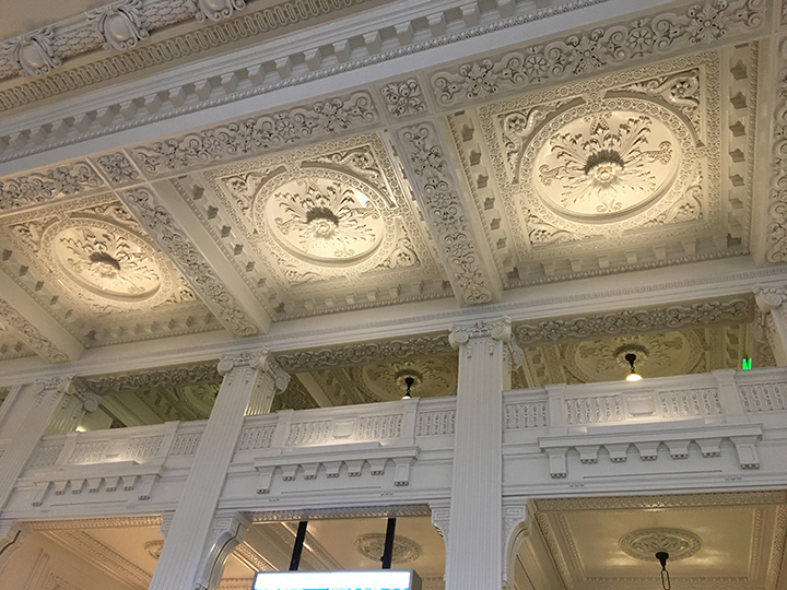 ceiling of the train station