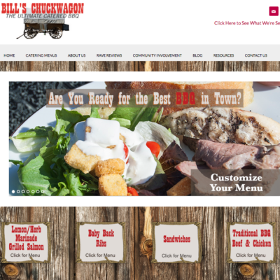 Bill's Chuckwagon Website with Genesis Child Theme